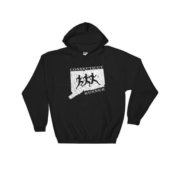 Connecticut Runner Hooded Sweatshirt - Unisex - Run Connecticut - Hoodie - Heavyweight Sweatshirt