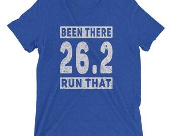Men's Been There Run That 26.2 Tri-Blend T-Shirt - Run 26.2 - Marathon Short Sleeve T-Shirt
