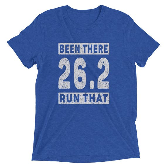 Men's Been There Run That 26.2 Tri-Blend T-Shirt - Run 26.2 - Marathon Short Sleeve T-Shirt