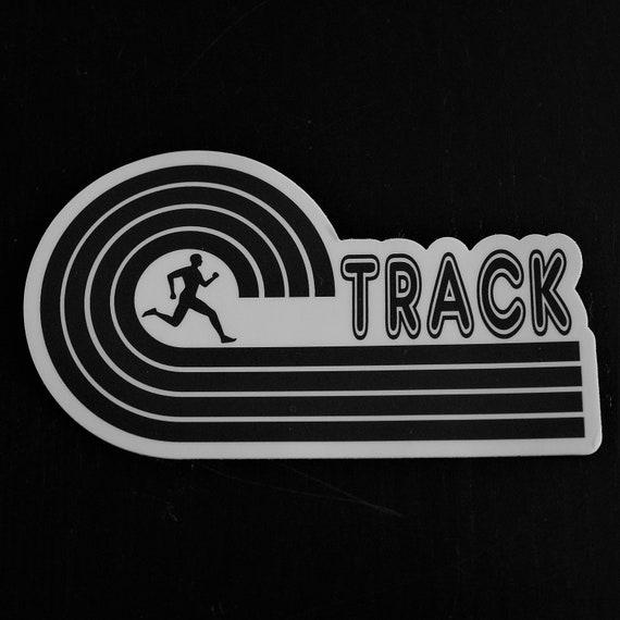 Track Runner Sticker - Vinyl Die Cut Sticker - Track Running Stickers - Run Track - Car Stickers