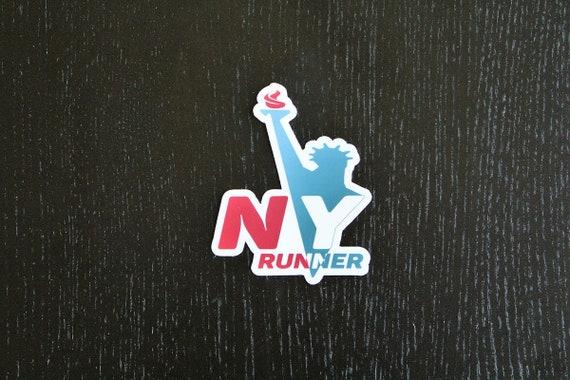 New York Runner Sticker - Vinyl Die Cut Sticker - New York Running Stickers - Run New York - Car Stickers
