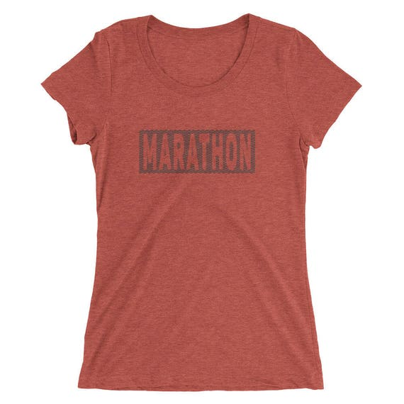 Women's Marathon TriBlend T-Shirt - Marathon Runner - 26.2 Mile Runner - Women's Short Sleeve Running Shirt