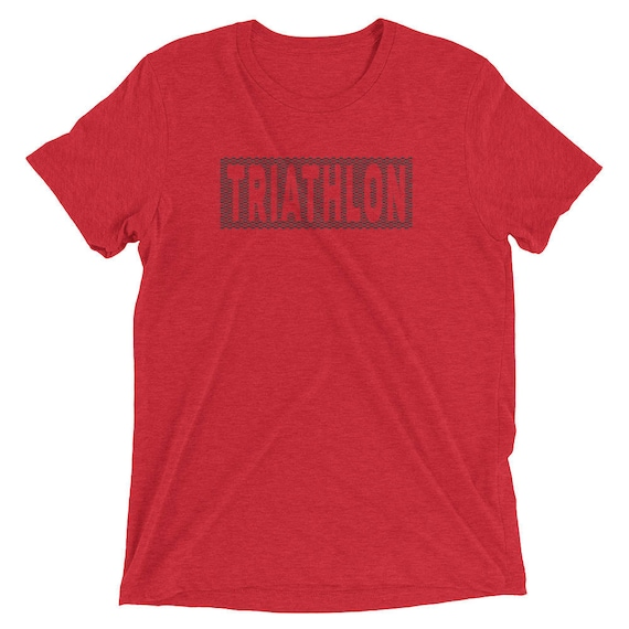Men's Triathlon Triblend T-Shirt - Triathlon Shirt - Swim Bike Run Shirt - Men's Short Sleeve Shirt