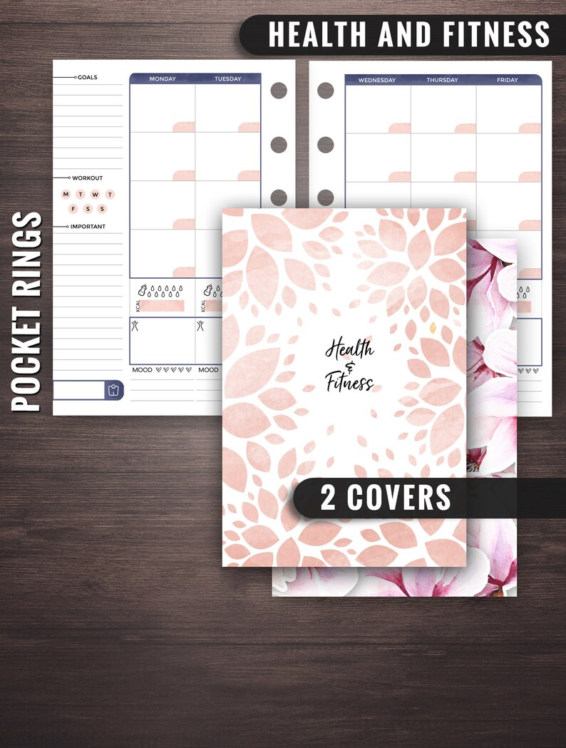 Pocket Rings Health and Fitness Planner Filofax Pocket image 0