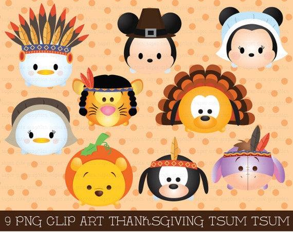 thanksgiving tsum tsum clipart tsum tsum graphics thanksgiving rh etsystudio com cute thanksgiving clipart cute thanksgiving clipart black and white