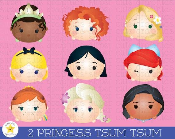 Princess Tsum Tsum Clipart Tsum Tsum Graphics Disney Tsum