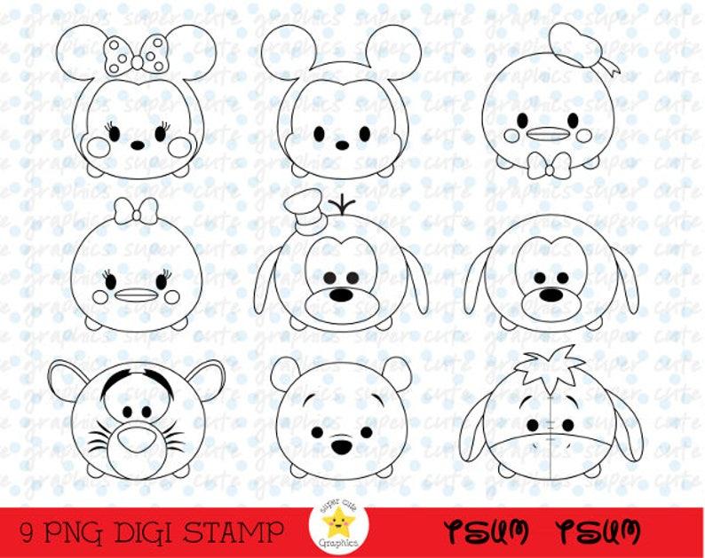 - Tsum Tsum Digital Stamps Tsum Tsum Stamps Disney Tsum Tsum Etsy