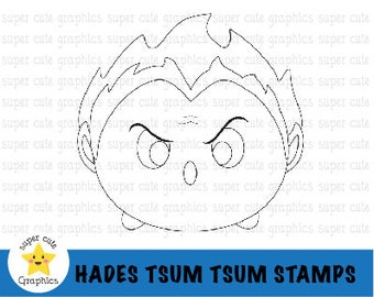 Tsum tsum clipart, tsum tsum stamps, hades clipart, hades digital stamp, zeus, tsum tsum digital stamp