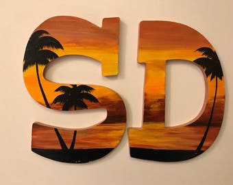 SD bronze and gold sunset letters