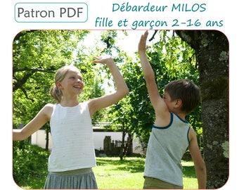 Débardeur MILOS fille et garçon 2-16 ans - Patron de couture PDF - Nombreuses variantes incluses