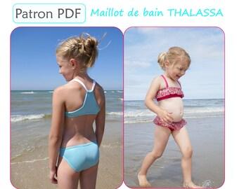Maillot de bain THALASSA - patron de couture PDF du 2 au 12 ans