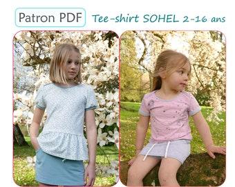 Tee-shirt SOHEL 2-16 ans - Patron de couture PDF