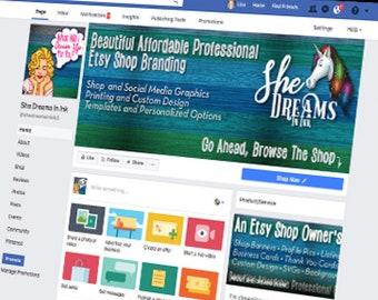 Facebook Custom Business Branding, Facebook Graphics, Facebook Design, Facebook Set, Custom Facebook Design, Facebook Brand, Facebook Files