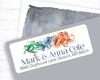 wolf pack address labels wolf personalized address address stickers wolf love personalized return custom return wolf label