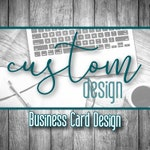 Custom Business Card Design, Business Card Design, Thank You Card Design, Loyalty Reward Card Design, Business Design, Custom Design