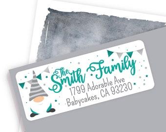 Gnome Baby Shower Address Label, Gender Neutral Address Sticker, Cute Gnome Sticker, Gnome Invitation Label, Mailing Label