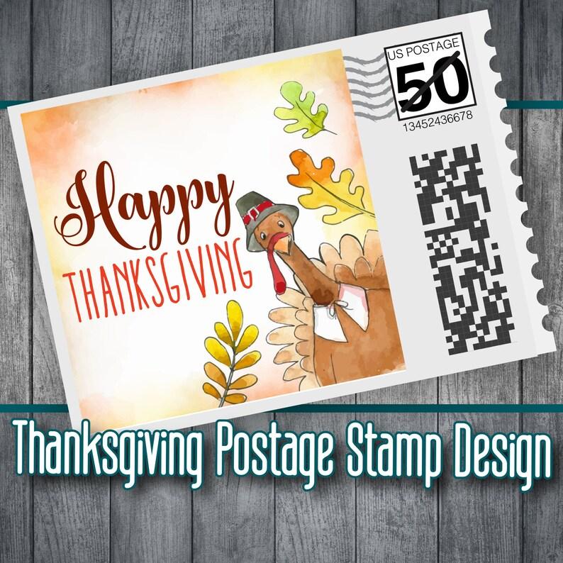 Mailing Stamps, Thanksgiving, Custom Postage, Postage, Pilgrim, Stamp  Design, Turkey, Photo Stamp, Postage Design, Fun Postage