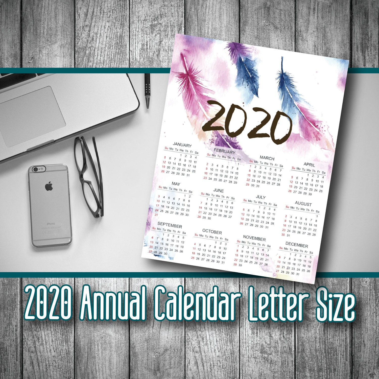December 2020 Calendar Scary Theme 2020 printable calendar download 2020 calendar printable | Etsy