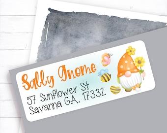 Gnome Address Label, Summer Address Label, Summer Gnome, Summertime design, Fun address label, Summer, Gnome, address label
