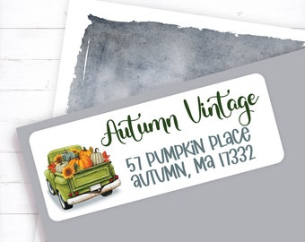 Green vintage truck with sunflower and pumpkin, Fall truck, pumpkin truck, sunflower truck, vintage pumpkin, sunflower, green truck, autumn