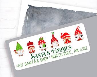 Christmas Gnome Address Label, Santa Gnomes, Christmas Elf, Christmas Invitation Label, Gnome Address, Christmas Address Label