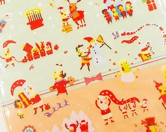 Santa Stickers / Cute Stickers / Kawaii Stickers / Dairy Stickers / Planner Stickers / Chistmas Stickers / Christmas Santa stickers