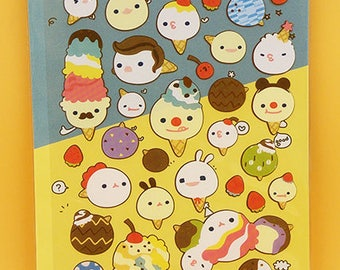 Ice Cream Stickers / Cute Stickers / Kawaii Stickers / Planner Stickers / Dairy Stickers