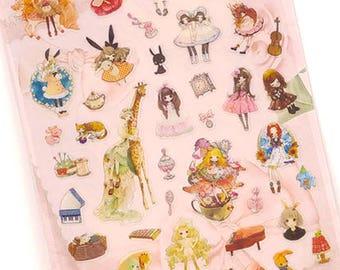 Girls stickers / Cute Stickers / Kawaii Stickers / Dairy Stickers / Planner Stickers / Lolita