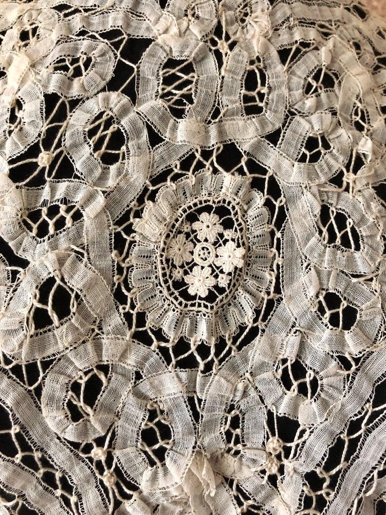 1910/'s Cotton Tape Lace Battenburg Lace Blouse Antique Edwardian Blouse