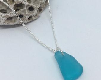 Simple Turquoise seaglass Pendant