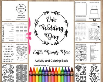 Wedding Coloring Book Printable Instant Download Childrens Activity Pages Reception Favors For Kids Editable