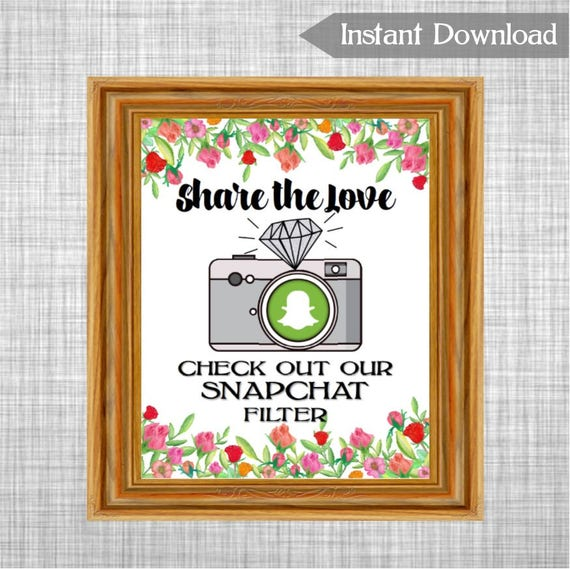 photo about Printable Snapchat Logo identify Printable Proportion the Delight in Snapchat Filter Wedding ceremony Indicator, Roses Bouquets Snapchat Geo-filter Signal Printable Indication, Bridal Shower Decoration RS79