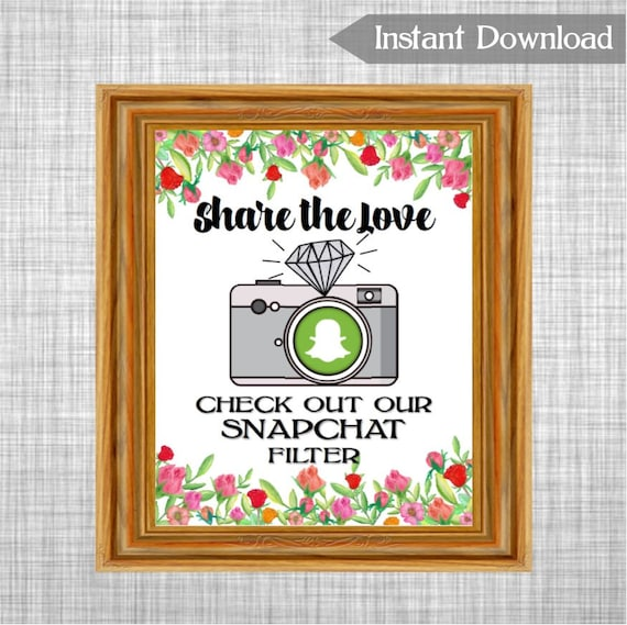 graphic relating to Printable Snapchat Logo referred to as Printable Proportion the Take pleasure in Snapchat Filter Marriage ceremony Signal, Roses Bouquets Snapchat Geo-filter Indicator Printable Signal, Bridal Shower Decoration RS79