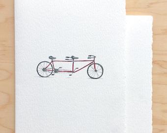 Tandem Bike Love Card