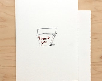 Thank You Card Take Out Chinese