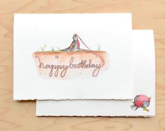 Early Bird Birthday Card