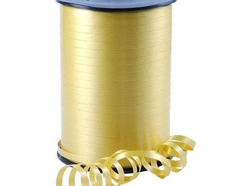 500M SILVER SATIN CURLING RIBBON 7MM WIDE