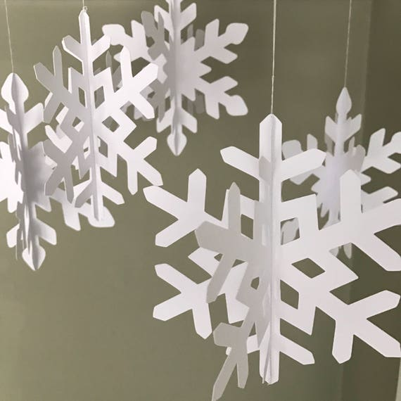 Christmas snowflake decorations Christmas decor Winter | Etsy