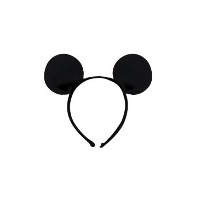 Micky Mouse Ears Headband Kids Party Fancy Dress Black Mouse Ears Minnie Mouse Dress Up