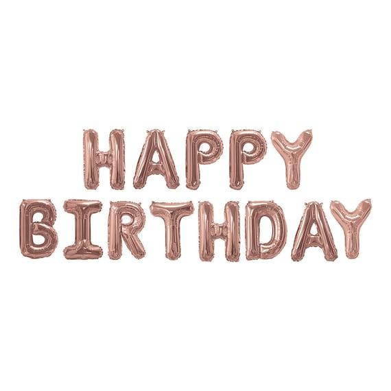 Rose Gold Happy Birthday Balloon Bunting Birthday Party