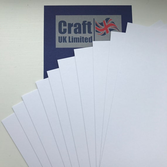 25 x A4 Diamond White Premium Craft Card 300gsm