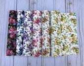 Texture floral ptint faux leather. Faux leather sheets. Floral leather sheets. Leather sheets. Craft supplies. FL06 photo