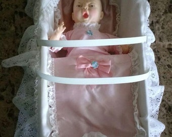 Horsman Baby Doll with Bed 1980