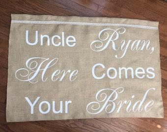Ring Bearer Banner   Wedding Banner