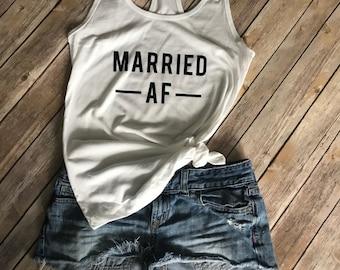 Married AF Tank | bride | tank top | honeymoon