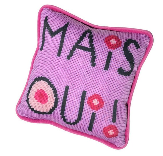 French square card with envelope  textile art print Mais Oui! but yes!