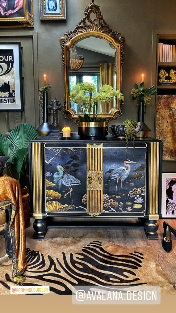 SOLD - Commission similar - Stunning Oriental inspired vintage cabinet
