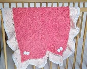 plaid, couverture bébé au crochet et aiguilles
