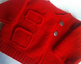 manteau paletot bébé  en laine acrylique