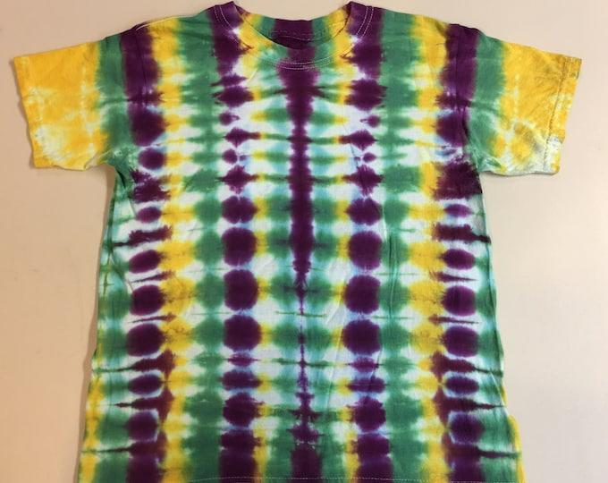 Mardi Gras Tie Dye Kids Shirt